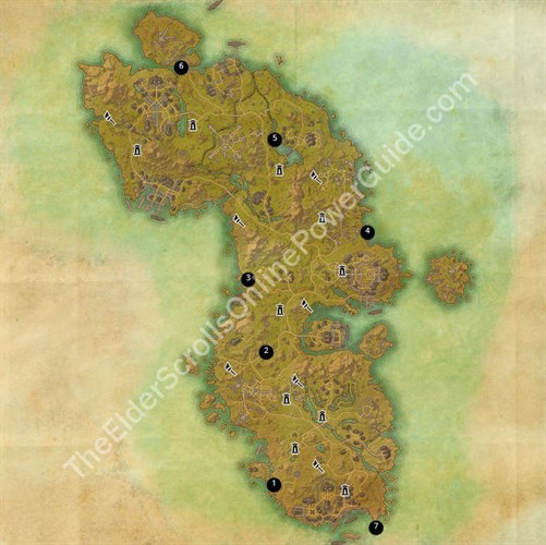 Auridon Treasure Map Locations