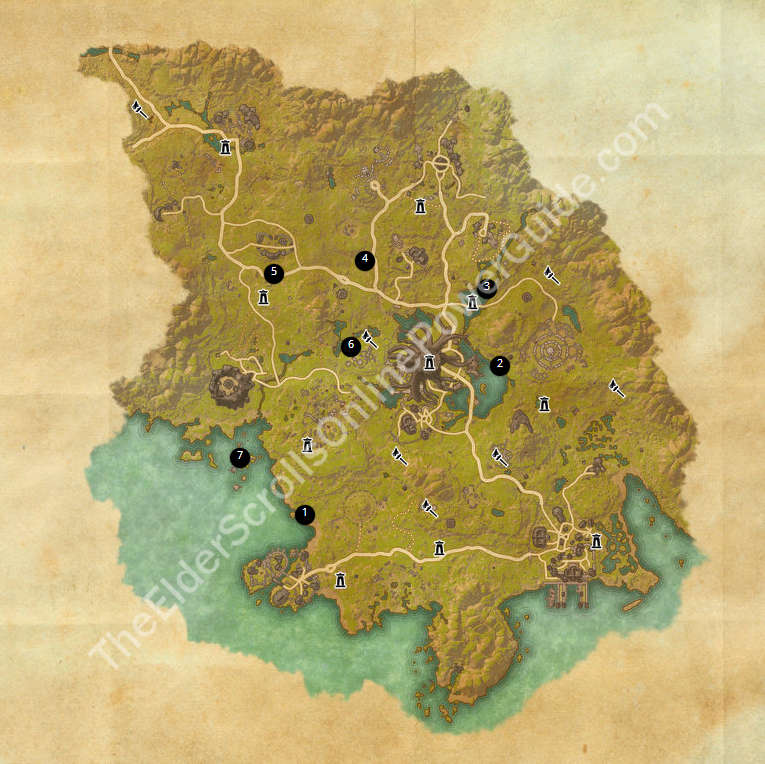 ESO Treasure Maps Guides on green shade treasure map, the rift ce treasure map, eso stone falls ce treasure map, deshann eso ce treasure map,