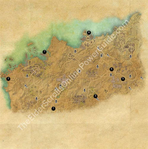 Alikr Desert Treasure Map Locations