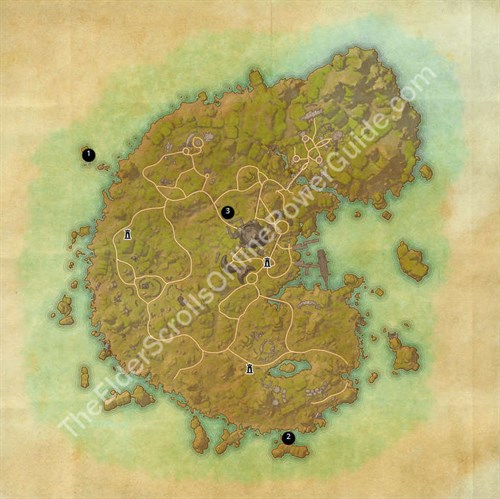Betnikh Treasure Map Locations