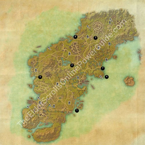 Glenumbra Treasure Map Locations