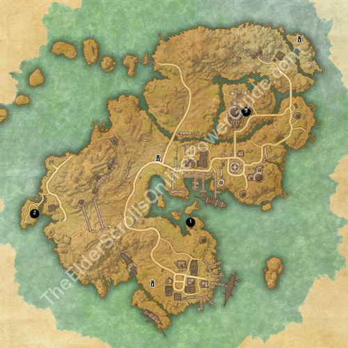 Stros Mkai Treasure Map Locations
