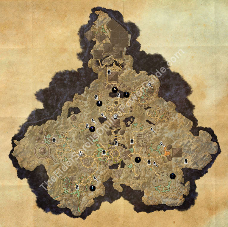 ESO Treasure Maps Guides on alik'r ce treasure map, khenarthi's roost ce treasure map, way rest ce treasure map, kenarthi roost ce treasure map, dominion ce treasure map, reapers march ce treasure map, eso stone falls ce treasure map,